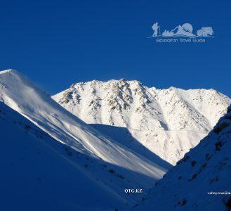 View from the east. The Great Almaty Peak 3681 m. Zailiysky Alatau Kazakhstan.