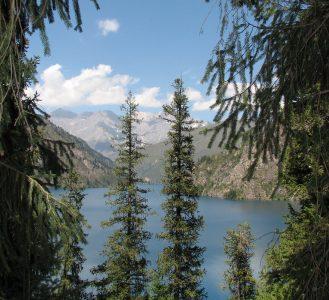 Lake Sary – Chelek 1874 m. Chatkal range. Kyrgyzstan.